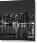 New York City Skyline Morning Twilight Xvi Metal Print