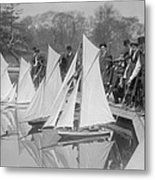 New York City, Start Of Toy Yacht Race Metal Print by Everett