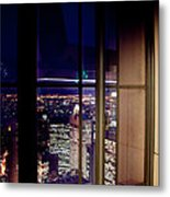 New York City Through A Window Metal Print
