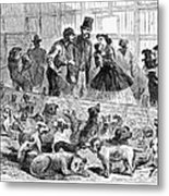 New York: Dog Pound, 1866 Metal Print