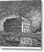 New York: Fire Of 1835 Metal Print