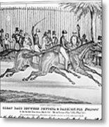 New York: Horse Race, 1845 Metal Print