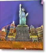 New York In Las Vegas Metal Print by Nicholas  Grunas