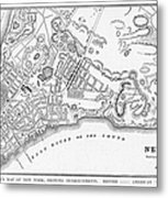 New York: Maps Metal Print