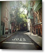 New York On Idealic Street Metal Print by Lori Andrews