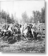 New York: Polo Club, 1877 Metal Print