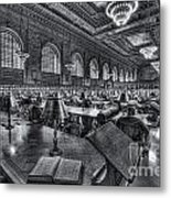 New York Public Library Main Reading Room Vi Metal Print
