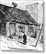 New York: Shanty, 1875 Metal Print