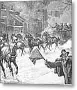 New York: Snowstorm, 1887 Metal Print