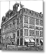 New York: Theater, 1869 Metal Print