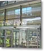 New York Times Reflection Metal Print