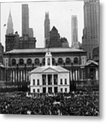 New Yorks Observance Of George Metal Print by Everett