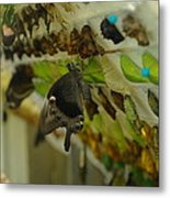 Newborn At The Butterfly Factory  Metal Print