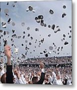 Newly Commissioned Officers Toss Metal Print