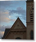 Newman United Methodist And Moon Metal Print
