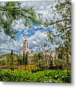 Newport Beach Temple Pine Metal Print