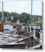 Newport Vermont Marina Metal Print