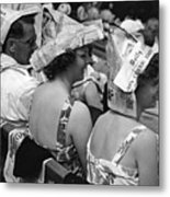 Newspaper Hats Metal Print by Fox Photos