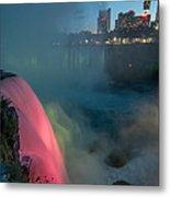 Niagara At Night Metal Print