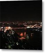 Niagara At Night Metal Print