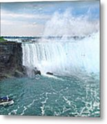 Niagara Falls And The Bubbles Metal Print