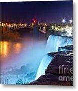Niagara Falls At Night 2 Metal Print