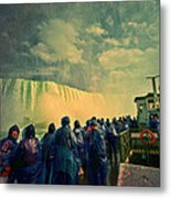 Niagara Falls From The Deck Maid Of The Mist Metal Print