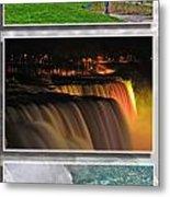 Niagara Falls Usa Triptych Series Metal Print