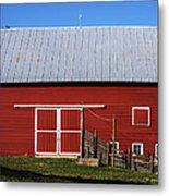 Nice Red Barn Metal Print