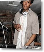 Nick Cannon, Guest D.j., Bamboo Metal Print by Everett
