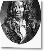 Nicolas Boileau (1636-1711). French Critic And Poet. Lithograph, French, 19th Century Metal Print