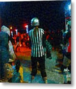 Night At The Roller Derby Metal Print