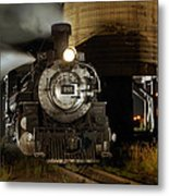 Night At The Water Tower Metal Print