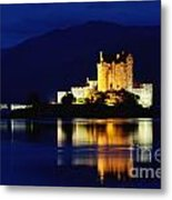 Night Falls On Eilean Donan Castle - D002114 Metal Print