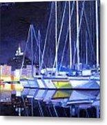 Night Harbor Metal Print
