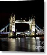 Night Image Of The River Thames And Tower Bridge Metal Print