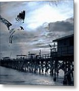 Night Landing Metal Print