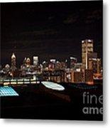 Night Lights Of Atlanta Metal Print