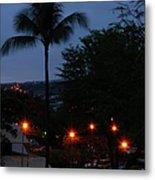 Night Lights On The Mountain Metal Print