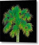 Night Of The Green Palm Metal Print
