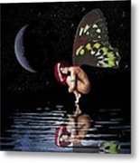 Night Reflection Metal Print by Diana Shively