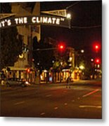Night Scene At 6th And G Metal Print
