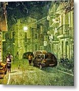 Night Scene In Sicily 2 Metal Print