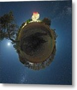 Night Sky Over Parkes Observatory Metal Print