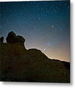 Night Sky Over Valley Of Fire Metal Print