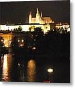 Night Time In Prague Metal Print