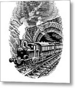Night Train, Artwork Metal Print by Bill Sanderson