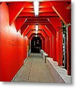 Night Tunnel Metal Print