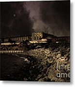 Nightfall Over Hard Time - San Quentin California State Prison - 5d18454 - Partial Sepia Metal Print