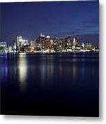 Nighttime Boston Skyline Metal Print